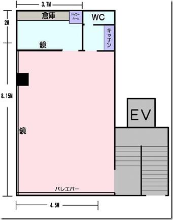 秋葉原レンタルスタジオの図面