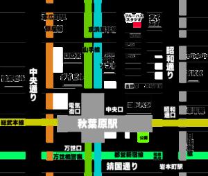 秋葉原ブルーハススタジオの地図マップ所在地住所